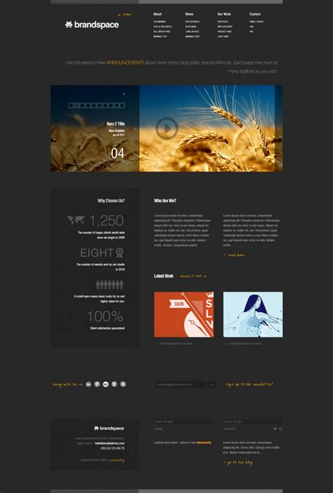 dynamic php website themes templates