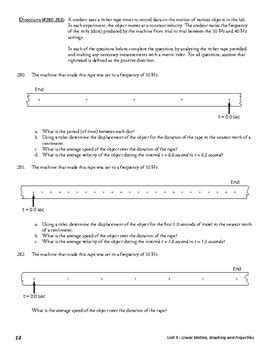 unit 3 activity 8 ticker analysis by ballerine s physics help