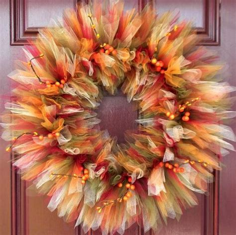 make your own fall wreath diy fall tulle wreaths are perfect for thanksgiving