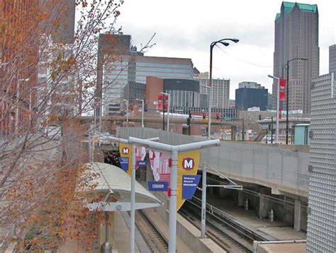 St Louis Light Rail by Downtown View
