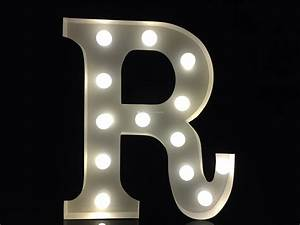 2018 vintage 9metal white light up letter r alphabet for White metal light up letters