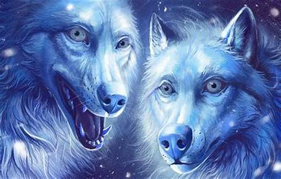 Wolves Fantasy Wallpapers Painting Fantastic Wolf Background
