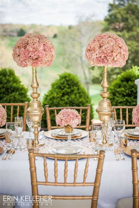 Luxury Wedding Table Scape Of Pink Creole Carnations