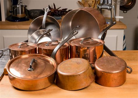 set copper pot collection food
