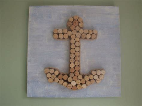 diy cork wine cork anchor craft ideas cork wine