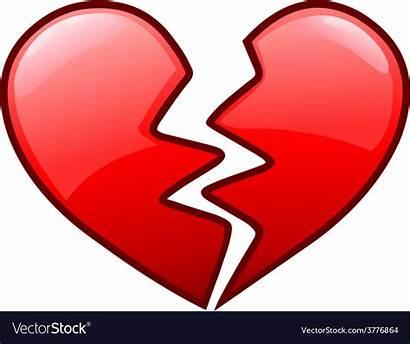 Broken Heart Vector Icon Royalty Vectorstock