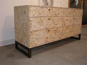 OSB dresser Eco friendly dresser made from OSB with a