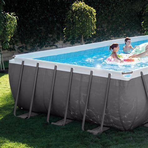 intex ultra frame rectangular swimming pool set with sand filter ladder 78257312122 ebay