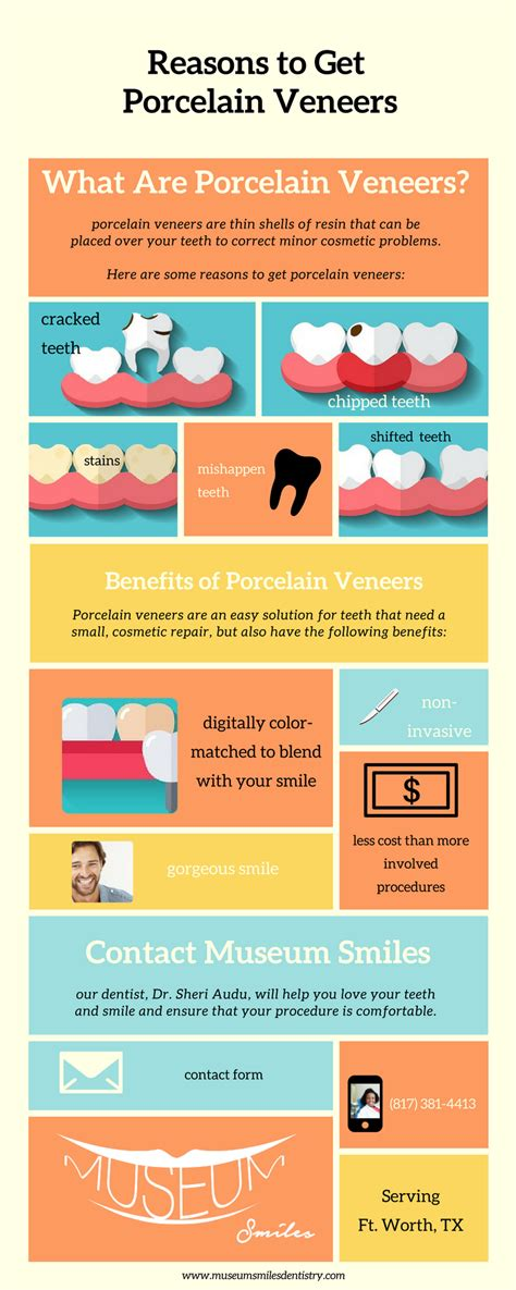 Porcelain veneers are a way to cover teeth yet still make them look natural. Infographic - Reasons to Get Porcelain Veneers   Fort Worth, TX