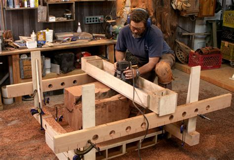 router jig turns stumps  beautiful side tables