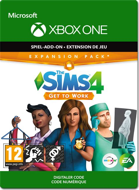 die sims 4 get to work xbox one digital world of