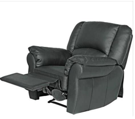 reclining cing chairs argos leather recliner chair black was 163 449 99 now 163