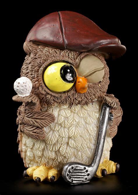 eulen bilder lustig lustige eulen figur golfer www figuren shop de