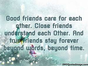 True friends stay forever - Friendship - SMS Quotes Image