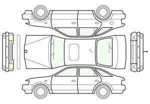 Car Vehicle Damage Diagram