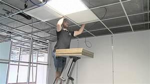 Installer Faux Plafond : am nagement int rieur cloison bureau faux plafond en idf costa entreprise youtube ~ Melissatoandfro.com Idées de Décoration