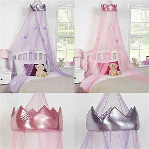 princess crown bed canopy kids childrens girls insect With diy princess bed canopy for kids bedroom