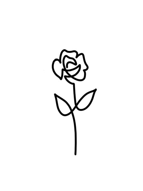 disegni bianco e nero piccoli immagine in bianco e nero per realizzare una rosa