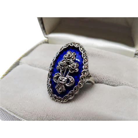 Outstanding Vintage Blue Enamel Sterling Silver Ring. Choc Rings. Sweetheart Wedding Rings. Frozen Rings. Multiple Small Diamond Wedding Rings. Tanzanite Rings. 9ct Rings. Man Engagement Rings. Ucla Rings