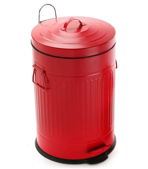 poubelles de cuisine poubelle de cuisine rétro en métal 20l