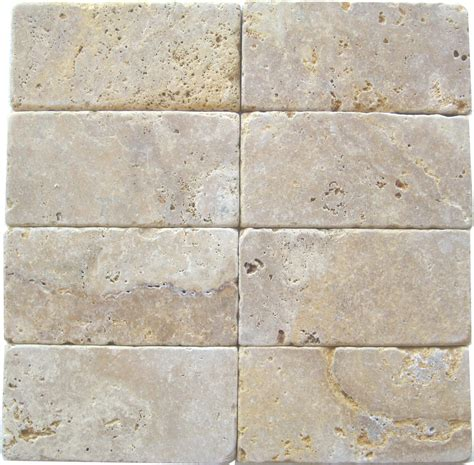 golden sienna travertine tumbled tiles    south