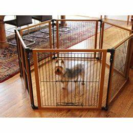 compare freestanding pet gate large to wood panel pet gate With wooden dog pens for inside