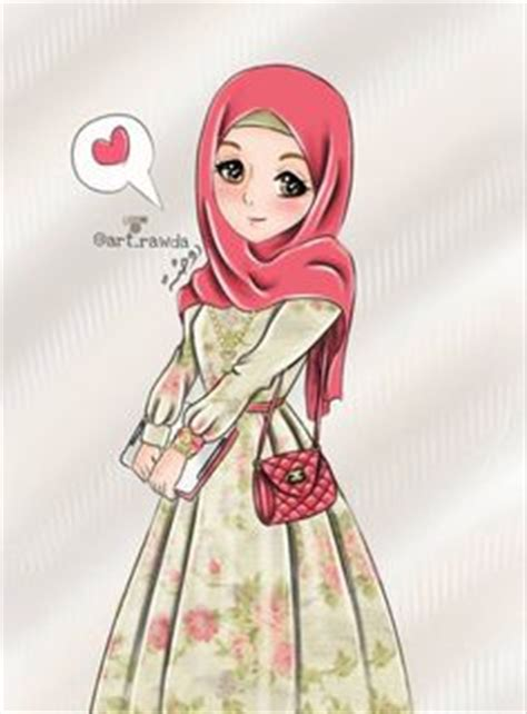 anime hijab simple a little bit hijab cartoon pinterest