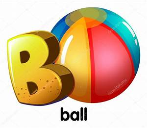 a letter b for ball stock vector c blueringmedia 53143035 With letter ball
