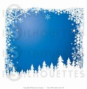 silhouette-clipart-of-snow-flocked-christmas-tree-silhouettes-over-a      Christmas Snowflake Silhouette