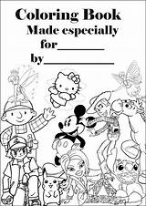 Coloring Pages Barbie Personalised Colouring Books Sheets Covers Printable Sheet Making Together A4 Them Disney Own Into Parents sketch template
