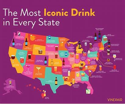 States State Every Iconic United Infographic Drinks