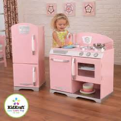 pink retro kitchen collection kidkraft pink retro play kitchen and refrigerator walmart