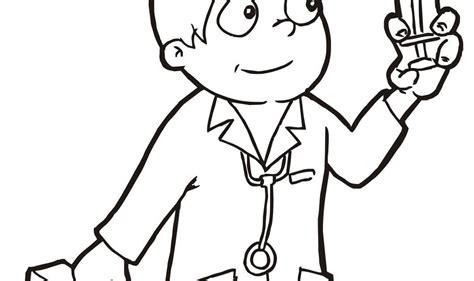 gambar dokter untuk mewarnai