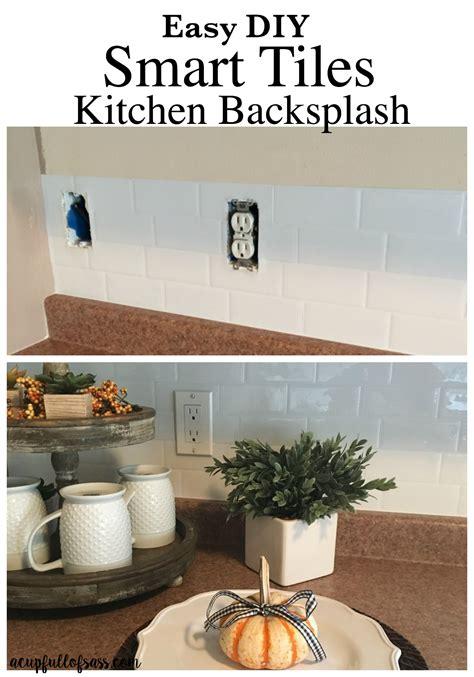 easy diy kitchen backsplash smart tiles kitchen backsplash a cup full of sass