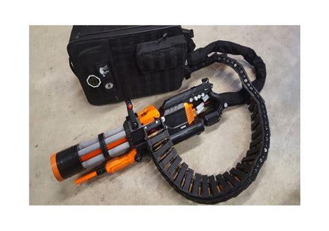 Insane Nerf Minigun Mod Fires 20 Rounds Per Second