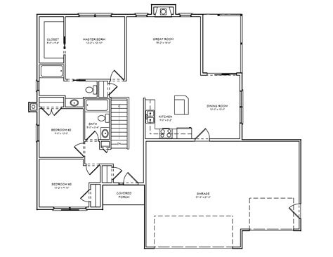 small ranch floor plans small ranch house plans 3 bedrooms open ranch style house