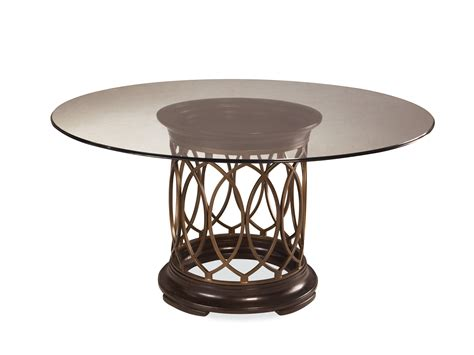 Intrigue Round Glass Table Dining Set