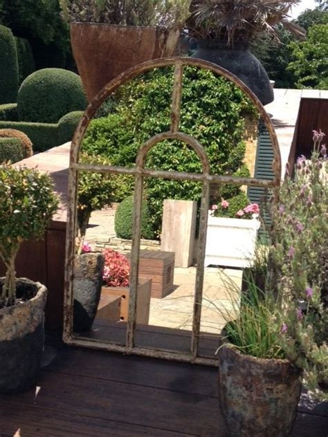 small cotswold arch garden window frame mirror sag