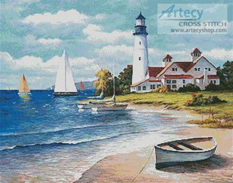 Artecy Cross Stitch Lighthouse Bay Cross Stitch Pattern