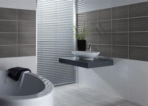 Contemporary Bathroom Design With Grey Wall Tiles Idea