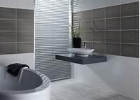 bathroom wall tile Contemporary Bathroom Design With Grey Wall Tiles Idea ...