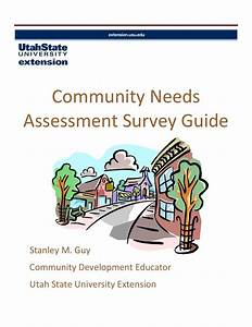 Community Needs Assessment Survey Guide By Utah State