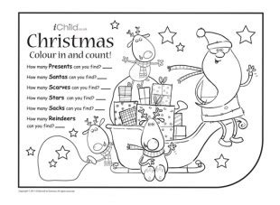 christmas colouring sheets ks festival collections