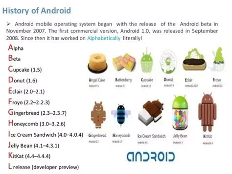 Why Are Android Versions Always Named After Sweet Items