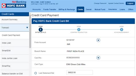 Bank checking or savings account. How To Do Balance Transfer From Hdfc Credit Card Sbi ...