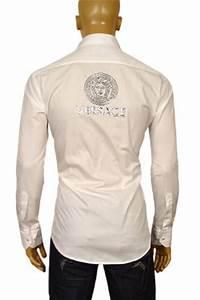 Mens Designer Clothes   VERSACE Men's Dress Shirt #143