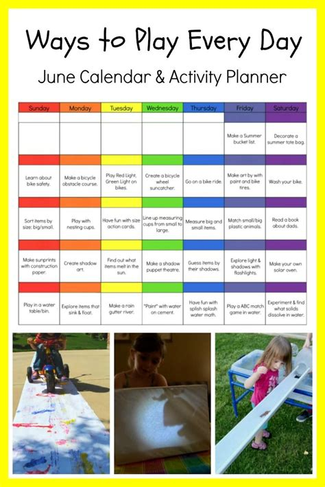 ways  play  day june activity calendar
