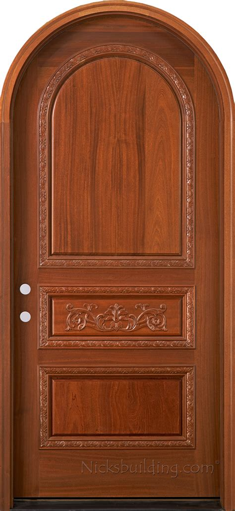 hand carved doors arched mahogany tuscany style doors