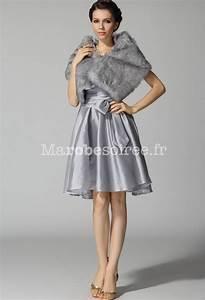 robe de soiree cocktail argentee et courte robes fanny With robe pour mariage cette combinaison collier homme argent