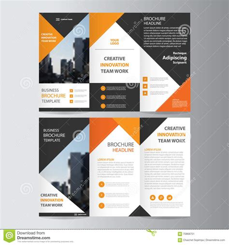 abstract triangle geometric brochure flyer design layout